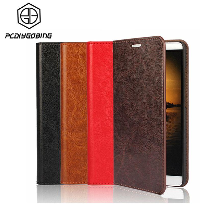 Portefeuille de luxe Stand couverture en cuir de vachette véritable étui pour samsung Galaxy S5 S7 S6 Edge Plus S8 Plus Note5 Note4 A3 A5 2017