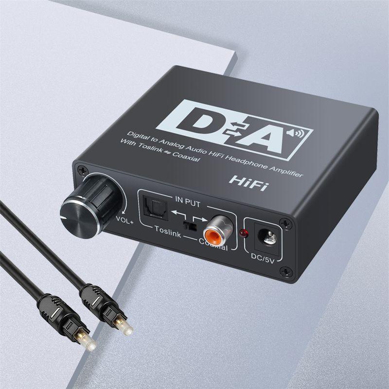 DAC Digital zu Analog Audio Converter Optical Toslink zu Koaxial und Koxiale zu Optische Toslink Bi-directional Schalter RCA 3,5mm