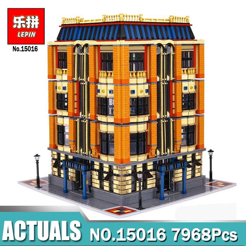 New Lepin 7968Pcs 15016 Genuine MOC Series The Apple University Set Building Blocks Bricks Compatible LegoINGlys Educational Toy