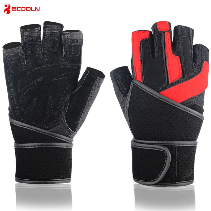 Men's Fitness Gloves Crossfit Barbell Dumbbell Sports Weight Lifting Guantes Workout Training Luvas Musculation Gym Equipment