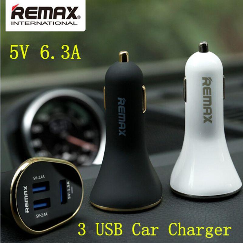 Remax 3 usb sortie 2.4A + 2.4A + 1.5A Super Rapide USB Chargeur De Voiture pour Samsung Note4 xiaomi redmi Apple iPhone 5S 6 Plus iPad iPod