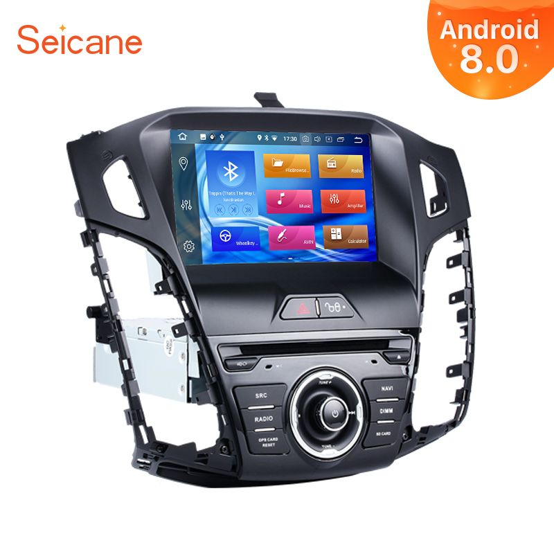 Seicane Android 8.0 8inch 1Din Car Radio For 2011 2012 2013 Ford Focus 8-core 4GB RAM Tochscreen Multimedia Player Support Wifi