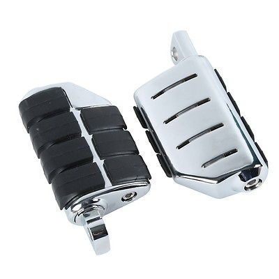 Male Mount Footpegs Footrests For Harley Softail Sportster Dyna Glide Fat Boy Road King Honda GOLDWING GL1500 1200 1800 Yamaha