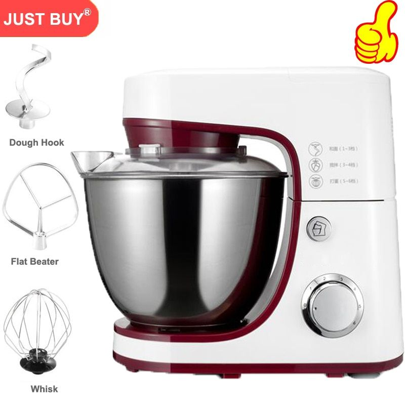 Electric Bread Dough Mixer Eggs Blender 4.2L Kitchen Stand Food Milkshake/Cake Mixer Kneading Machine Dough Maker