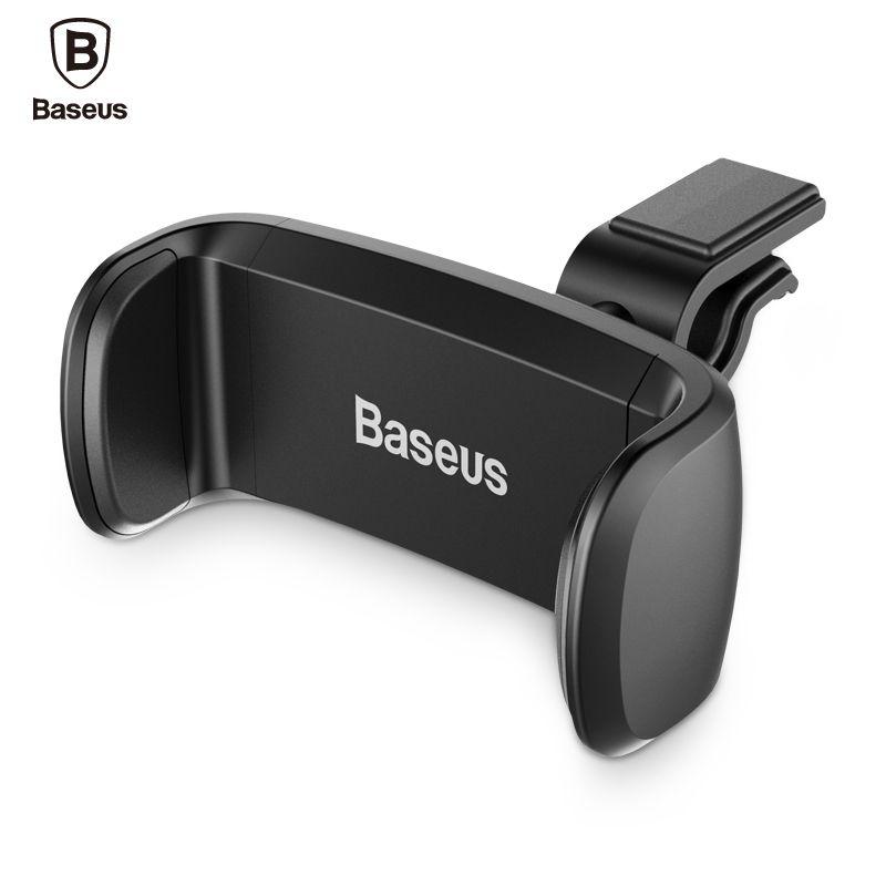 BASEUS автомобильный держатель телефона на 360 градусов Регулируемый Soporte movil мобильный телефон Автомобильный держатель для укладки Air Vent держа...
