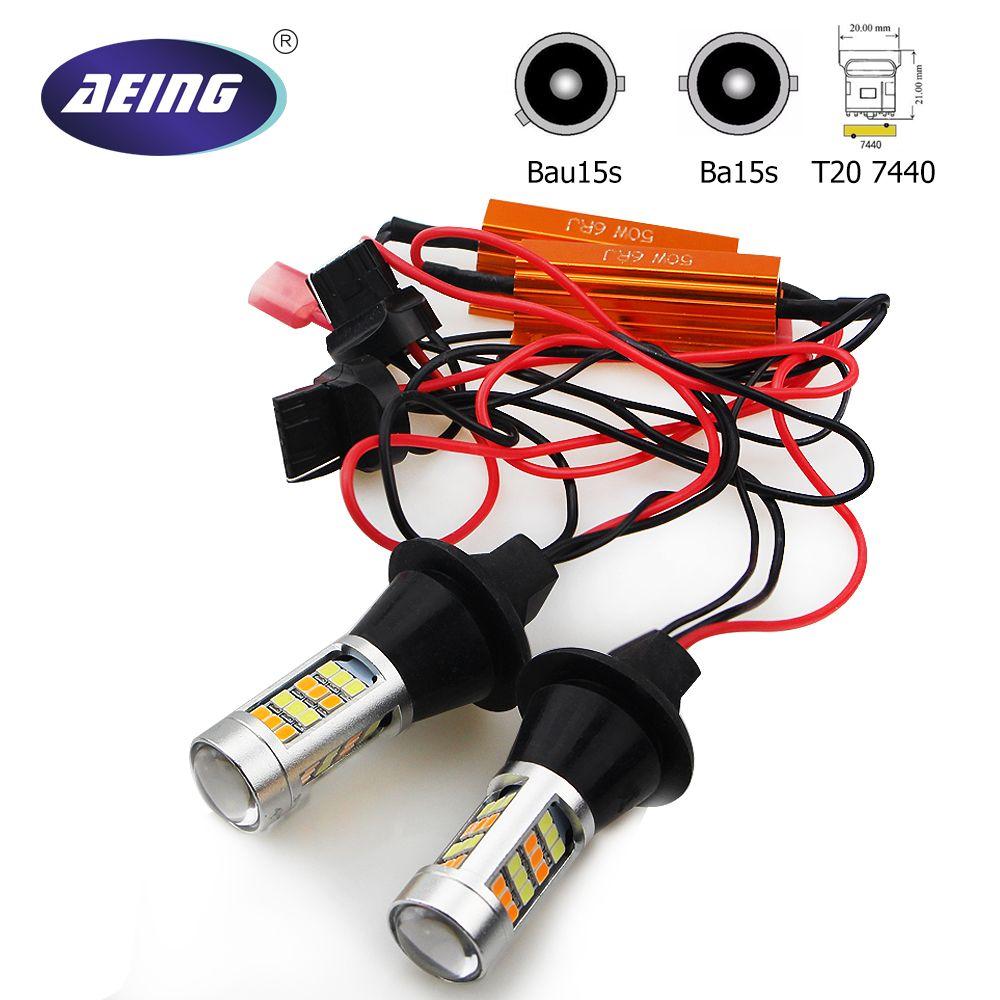 Aeing без Hyper Flash/CANBUS ОШИБОК горки 1156 Ba15s P21W/Bau15s PY21W/T20 7440 светодиодов луковицы янтарный указатель поворота DRL
