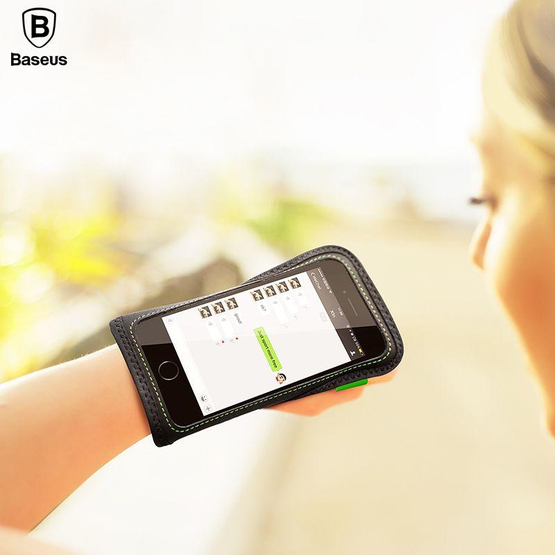 Baseus Brassard Sport Téléphone Mobile Holder Main Téléphone Cas Pour iPhone 7 6 Bracelet Étanche de Remise En Forme Téléphone Sac Pour Le Sport