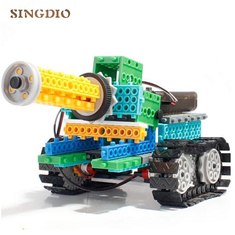 RC juguetes 237 unids/set DIY knight/insectos/tanque/Racing 4-en-1 Variedad bloques Bloques de Construcción de Montaje electrónico Remoto Bloques de Control