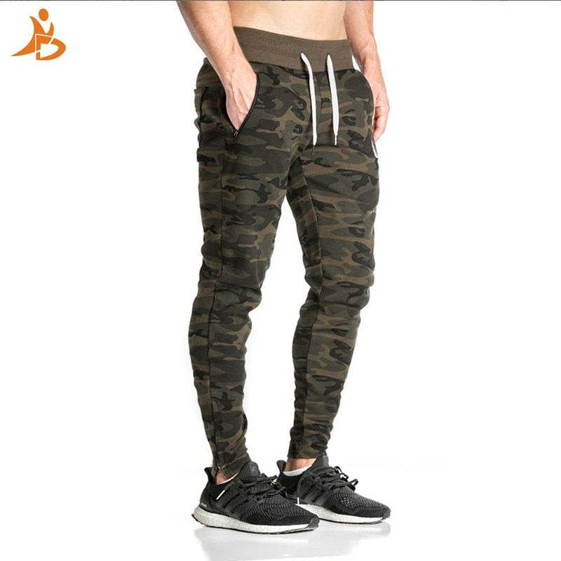 2017 YD Hot Selling Men's Camouflage Pants Gym Clothing Running Trousers Men Outdoor Workout Sportswear Comprssion Sport Pants