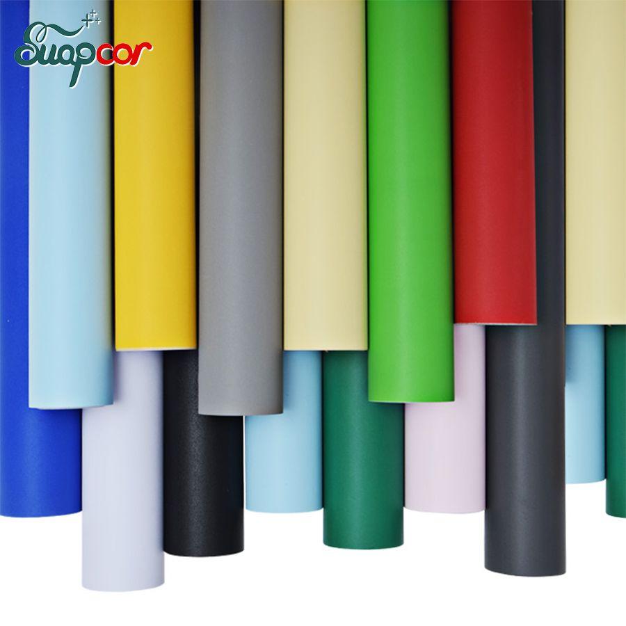 Imperméable à l'eau mat auto-adhésif papier peint amovible solide couleur vinyle Stickers muraux décor à la maison chambre meubles décoratifs Films