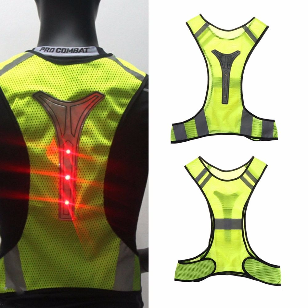 Cycling Reflective Vest LED Running Outdoor Safety Jogging Breathable Visibility