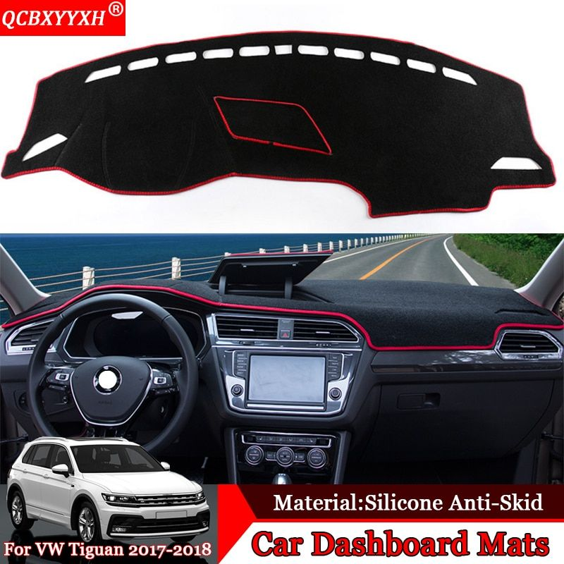 QCBXYYXH Car-styling Car Dashboard Avoid Light Pad Polyester Platform Desk Cover Protective Mats For Volkswagen Tiguan 2017 2018