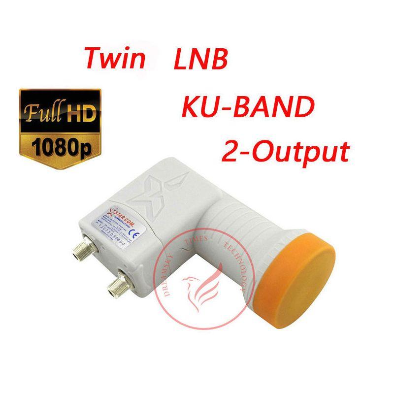 HD цифровой спутниковый двойной twin LNB sr-3602 Мини Full HD цифровой универсальный Выход 0.1db LNB LNBF, ку 2-Выход LNB