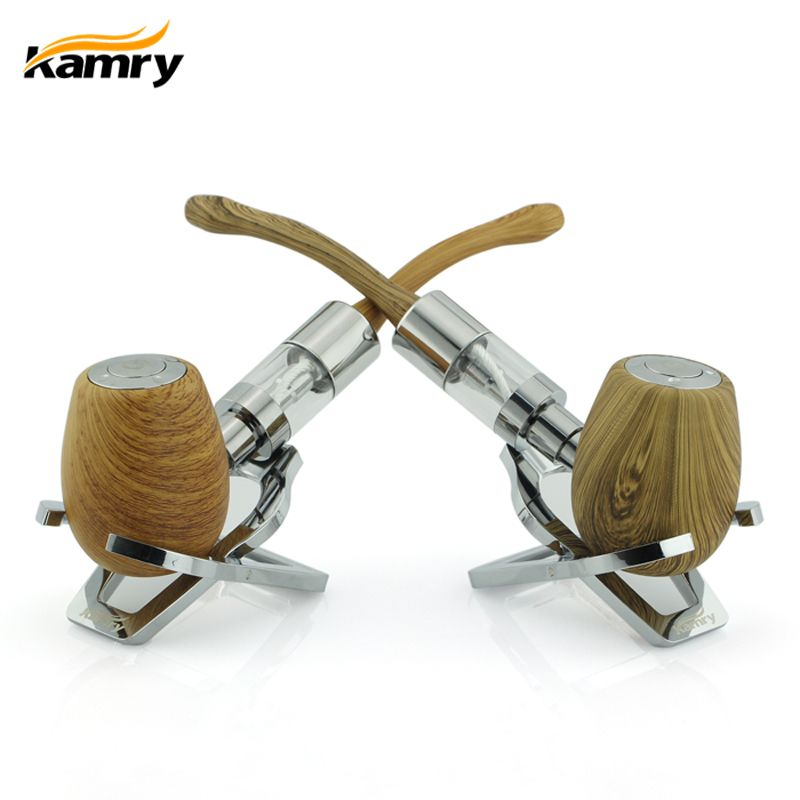 Original K1000 E PIPE <font><b>Mechanical</b></font> Mod Vape kit with 3.0ml atomizer Kamry Brand Wooden E PIPES Cigarette with huge Vapor like Wood