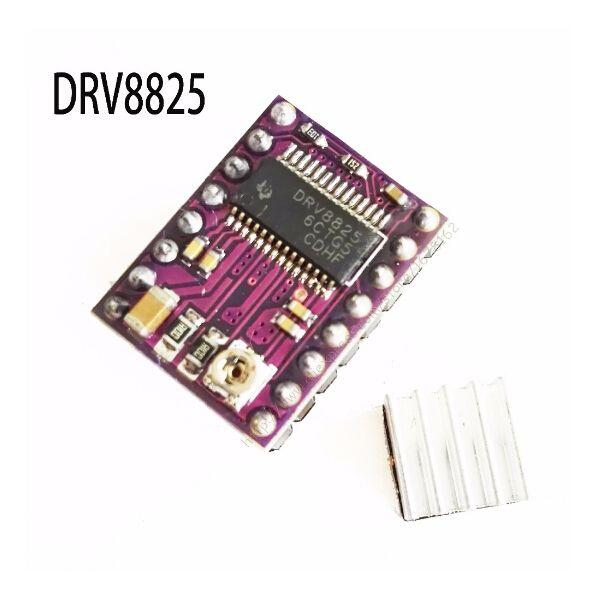 10 pcs/lot. StepStick DRV8825 Stepper Motor Pilote Transporteur Reprap 4-couche PCB RAMPES remplacer A4988 pour 3D Imprimante