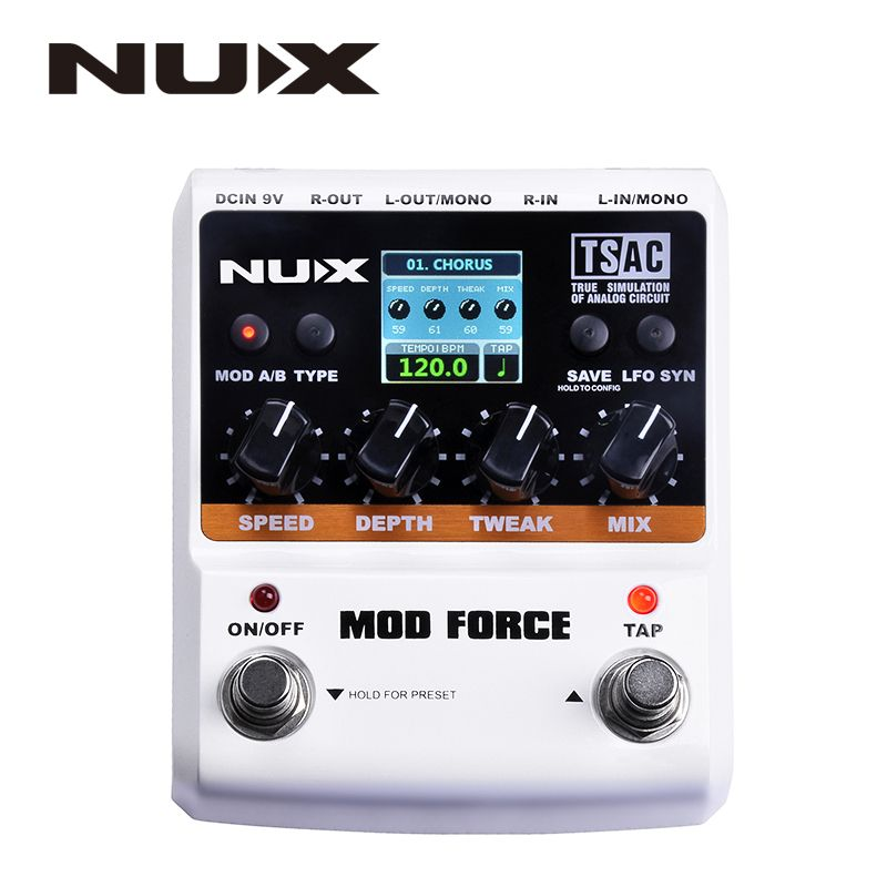 NUX MOD Force Multi Modulation Effects Dual Engine with Series/parallel Switchable Color Screen Musical Instrument Parts