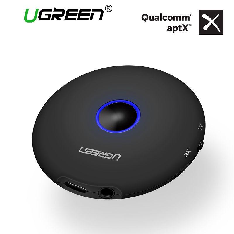 Ugreen Bluetooth Audio Receiver Transmitter 3.5mm Aptx Bluetooth Adapter for TV Headphones Speakers Wireless Audio Transmitter