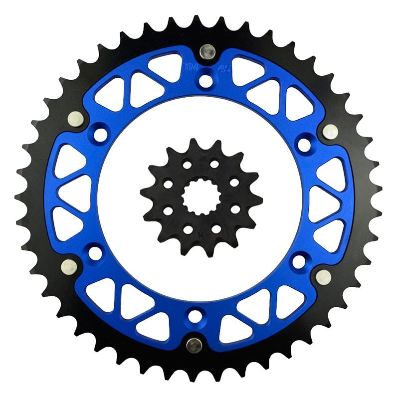 14/45 46 47 48 49 51 52 Teeth Motorcycle Front and Rear Sprocket Kit for YAMAHA WR250Z 2000-2003/ WR450F 2003-2014/ WR400F 1999
