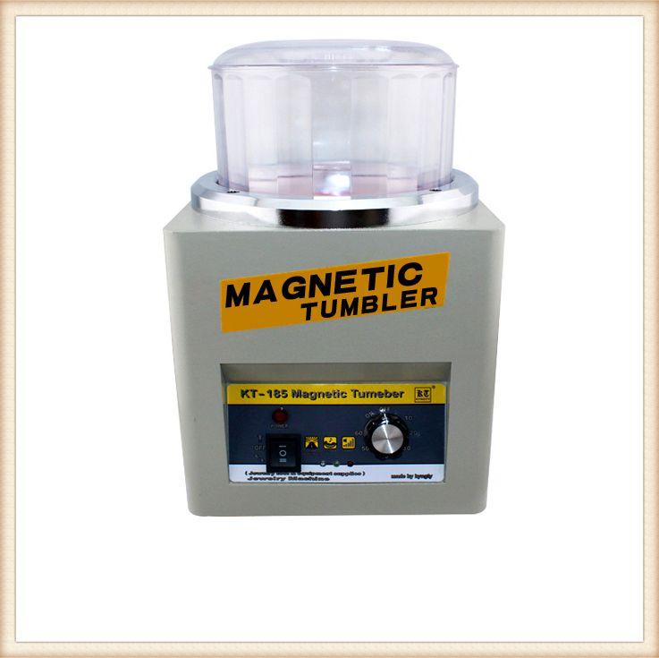 KT-185 Tumbler Magnétique 16 cm Bijoux Polisseuse Superbe Finition, magnétique Machine De Polissage