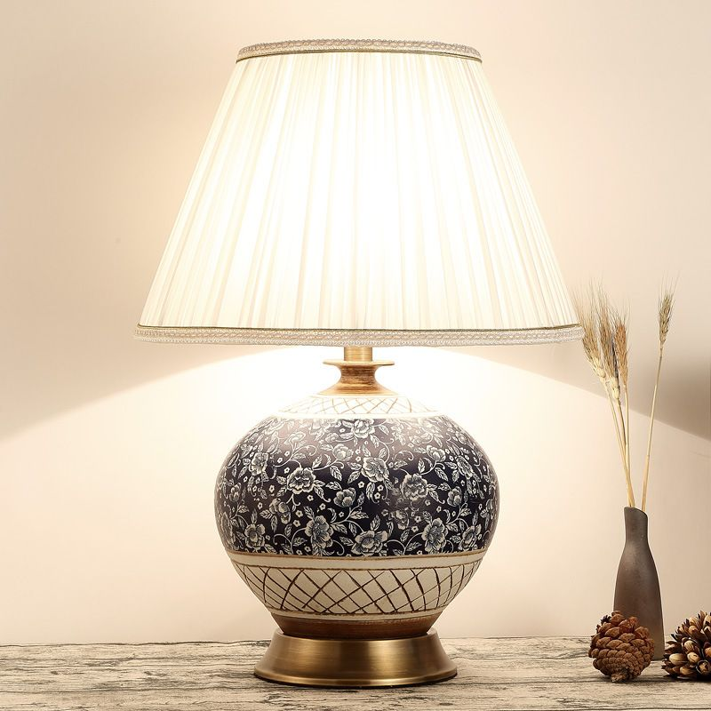 TUDA 38X54cm Free shipping Chinese Classical Style Table Lamp Ceramic Table Lamp For Living Room Bedroom LED Table Lamp E27