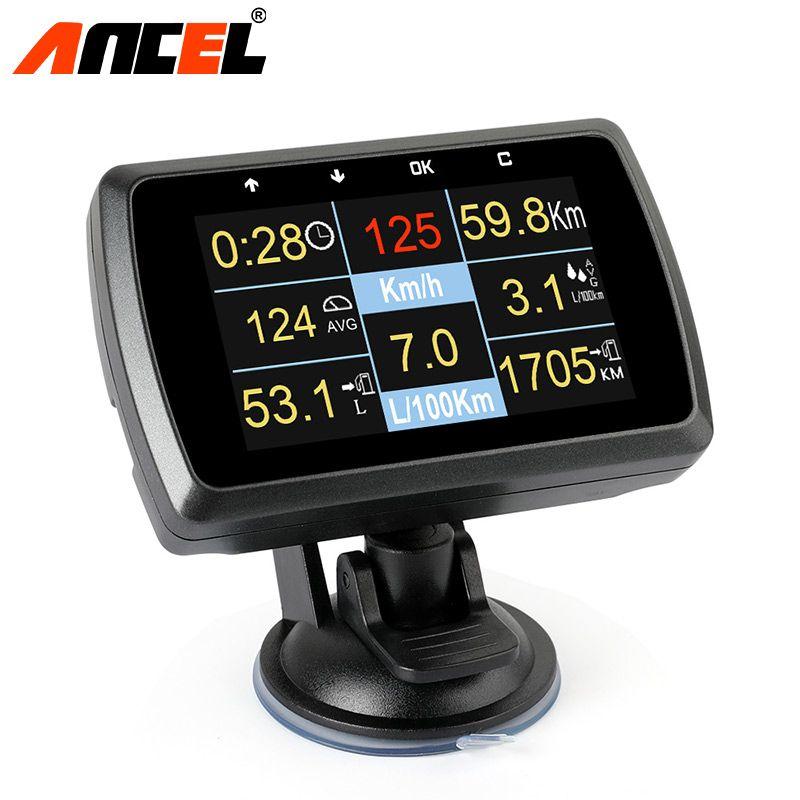 Ancel A501 Original Car Digital OBD2 Smart Diagnostic Tool Show Speed Water Temperature Fuel Consumption Fault Detection Gauge