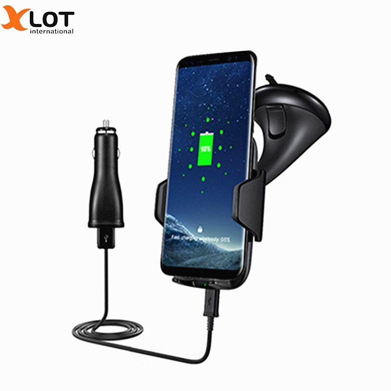 XLOT Qi Schnelle Drahtlose armaturenbrett Montieren Für Samsung Galaxy S7 rand S8Plus Note5 Note8 auto drahtlose ladegerät