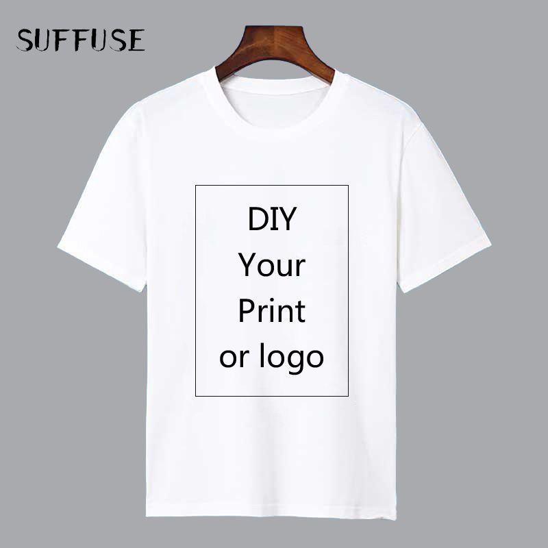 T-shirt imprimé personnalisé pour les hommes bricolage comme Photo ou Logo haut blanc t-shirts T-shirt hommes taille S-4XL transfert de chaleur Modal