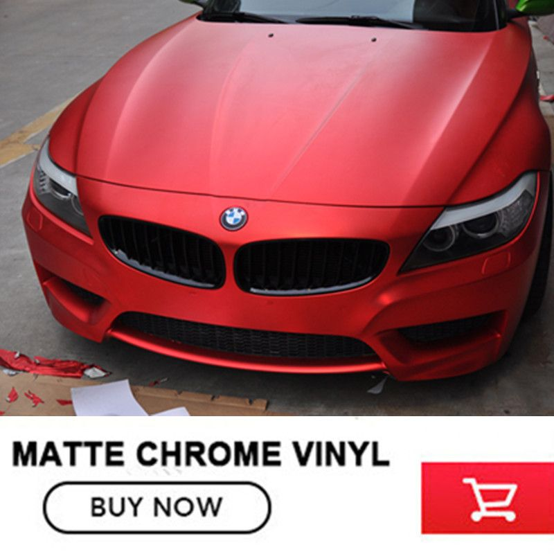 satin chrome red vinyl wrap green vinyl wrap vinyl wraps With Air Bubble For Car Wrapping Size:1.52*20M/Roll free shipping