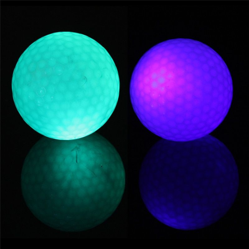 Sport Blinkt Elektronische Golfbälle 2-Pack Nacht Golf 1 Blau + 1 Grün