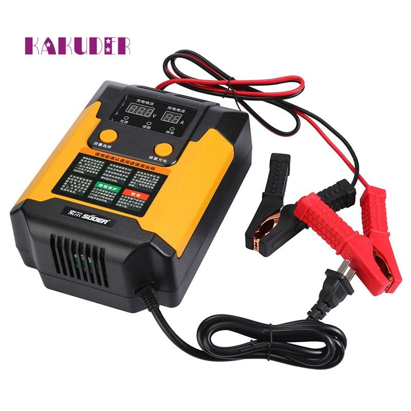 2017 new charger Full Automatic 12V/24V Intelligent Pulse Repair Car Battery Charger 220V  drop shipping charger june12