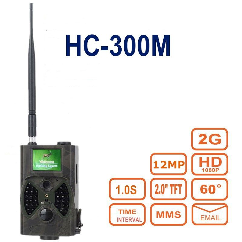 Imagers for hunting MMS HC-300M 12MP 1080P Wireless Hunting Traps Photo Video Digital Infrared Hunter Cam home surveillance cam