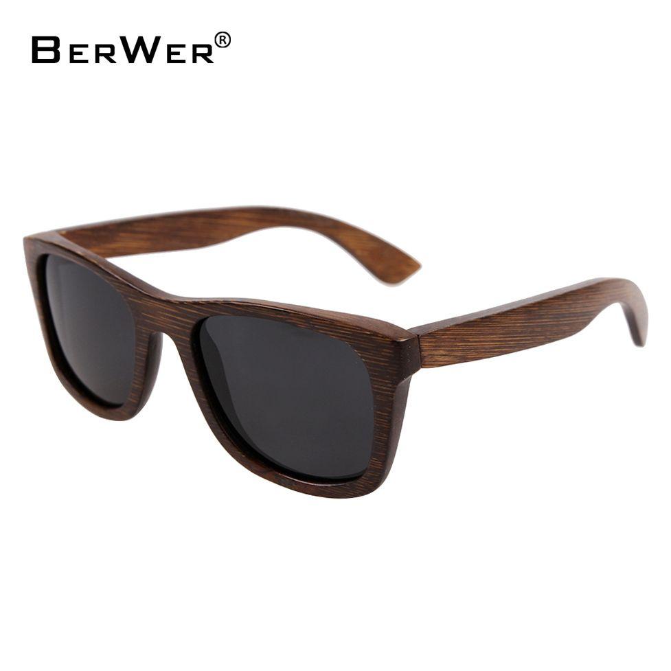 BerWer bambou lunettes de soleil 2018 de mode lunettes de soleil polarisées populaires nouveau design en bois lunettes de soleil Cadre À La Main