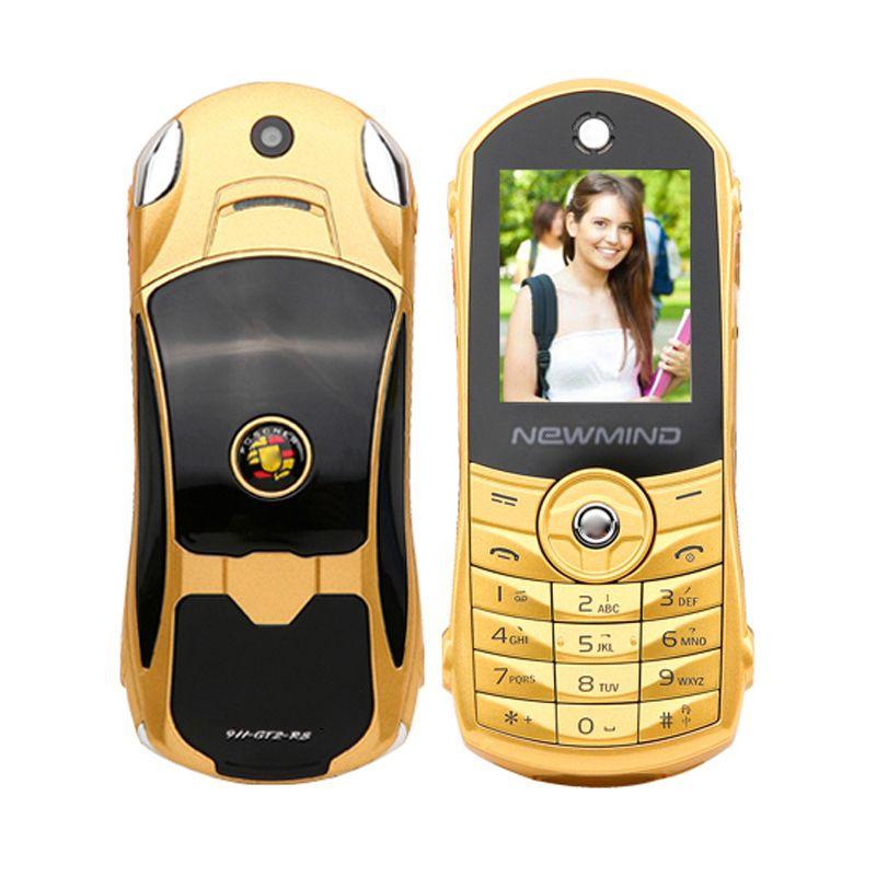 Newmind F8 unlocked Russian,German,French,Spanish,Arabic,Hindi flashlight dual sim card car model mini mobile phone P215