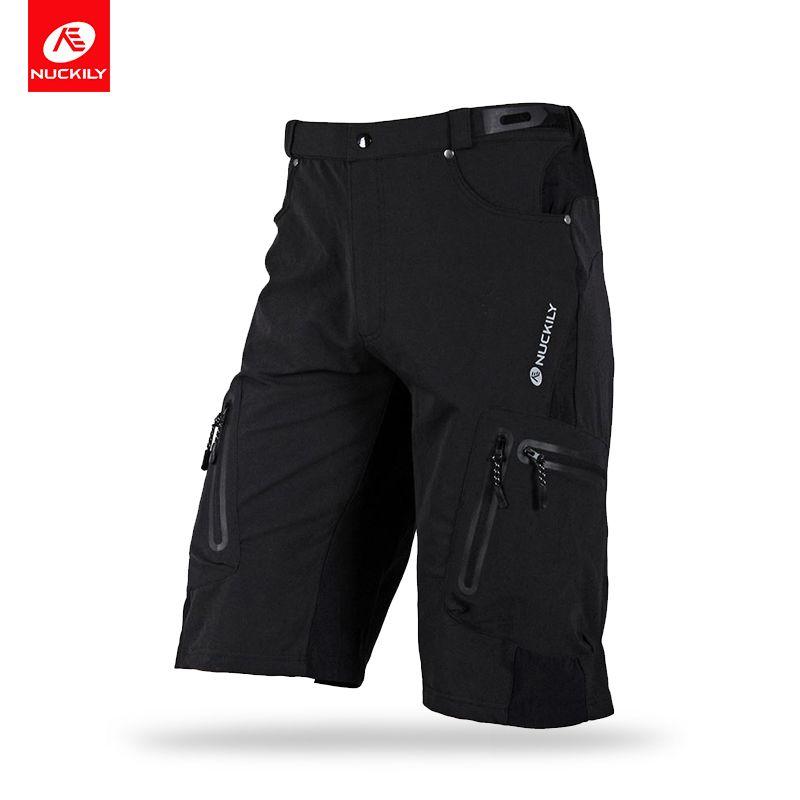 NUCKILY Summer Cycling Shorts Men BTB Shorts With Cargo Bermuda Design Dtrech Bicycle Tights Bike Wear NS357