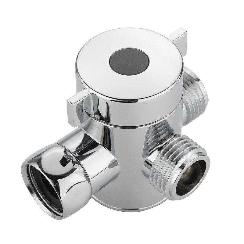 G1/2 Inch Shower Head Shunt Bathroom Three Way T Adapter Tee Connector Valve For Toilet Bidet Shower Head Diverter Valve