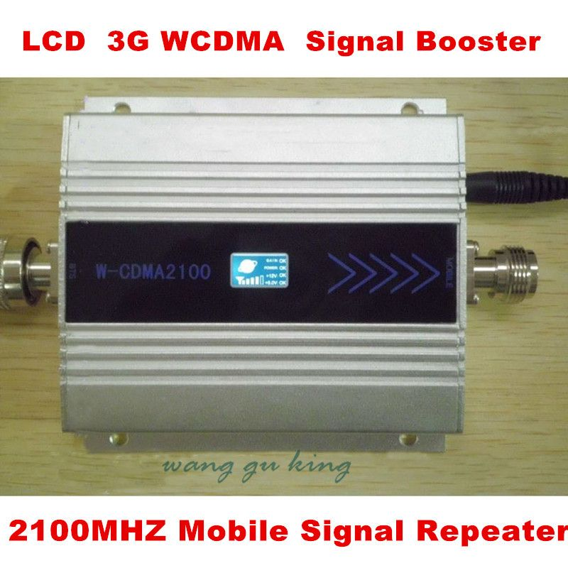 LCD Display !! Mini W-CDMA Signal Booster 2100Mhz 3G Signal Repeater WCDMA Signal Amplifier Cell Phone Signal Booster Amplifier