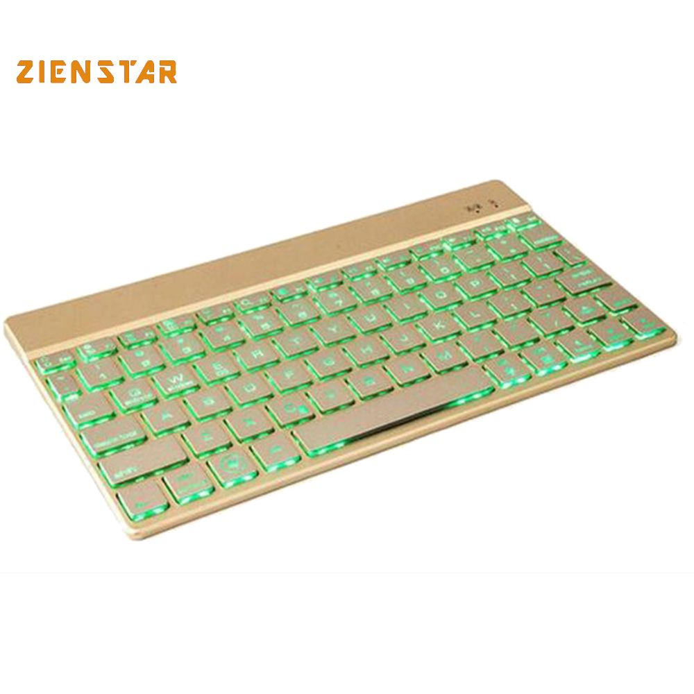 Ultra slim Wireless KEYBOARD Bluetooth 3.0 with 7 colors LED back light for IPAD/Iphone/Mac/LAPTOP /DESKTOP PC/ TABLET