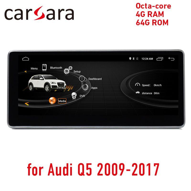 4G RAM 64G ROM Android display für Audi Q5 2009-2017 10,25