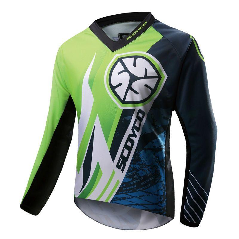 MX Shirts Tops Scoyco T203 Motocross Jersey Racing Moto Training T-shirt Bike MTB Cycling ATV Race motorcyle Green Orange Red