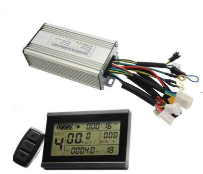 escobillas 24V 36V 48V 500W E-Bicycle Brushelss Regenerative Function 9MOSFET 25A Ebike Controller Including LCD3 Display Panel