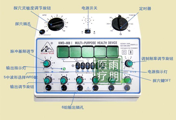 Machine de stimulateur d'acupuncture KWD808-I grande marque de mur/kwd 808