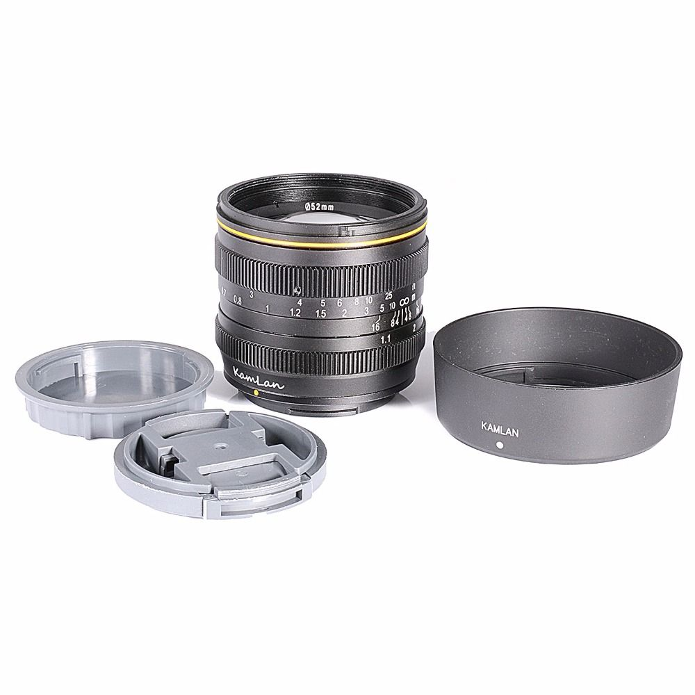 NEW Kamlan Standard Prime Lens for M4/3 Mirrorless Camera 50mm F1.1 APS-C