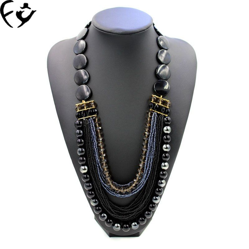 The new handmade beaded jewelry bead necklace sweater chain chain of clavicle