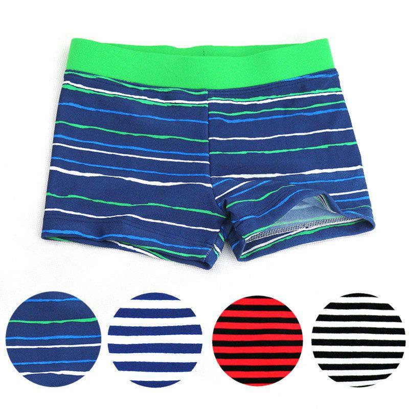 2018 New Summer Clothing Kids Boy Swim Cute Striped Trunks Children Swimming Shorts Boys Beach Swimwears Boy's Clothing 4 colors
