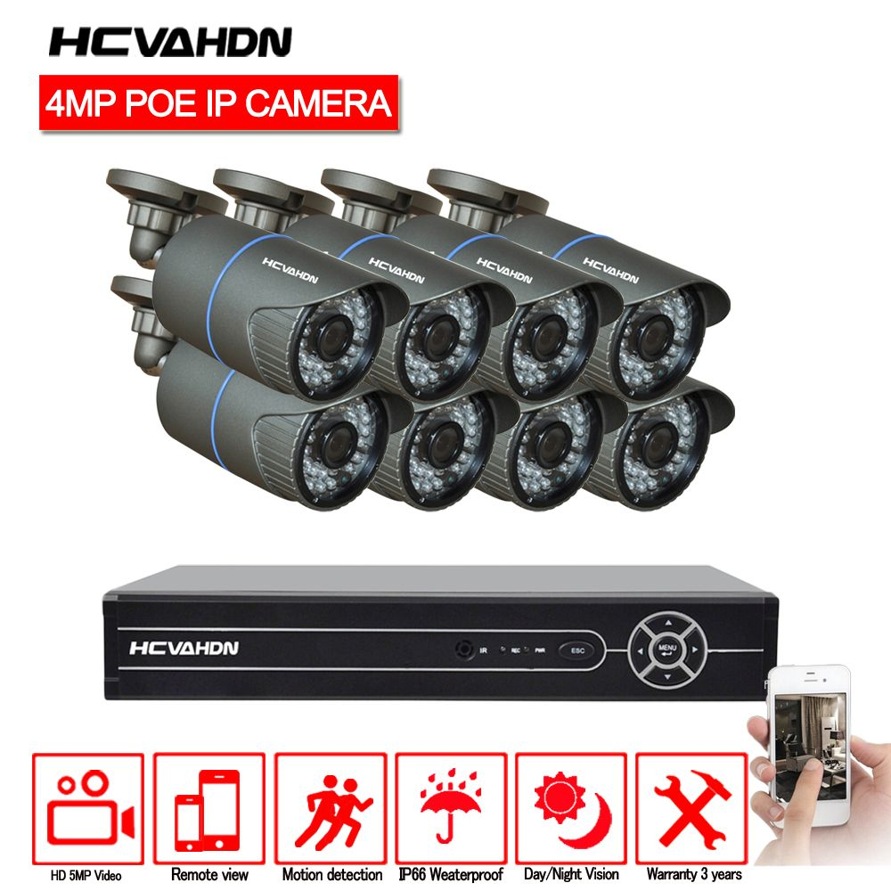4 karat HDMI POE NVR Kit 8CH 5MP 1080 p CCTV Kamera System 4.0MP Outdoor Sicherheit IP Kamera P2P Video überwachung System Set Keine HDD