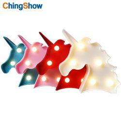3D mini night light LED Wandleuchte Flamingo Ananas Kaktus étoiles coeur licorne Pour la partie Bébé Schlafzimmer Dekoration Kinder