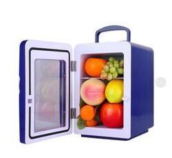 Azul 4L pequeño refrigerador compacto fría y caliente de doble propósito mini coche refrigerador de la casa