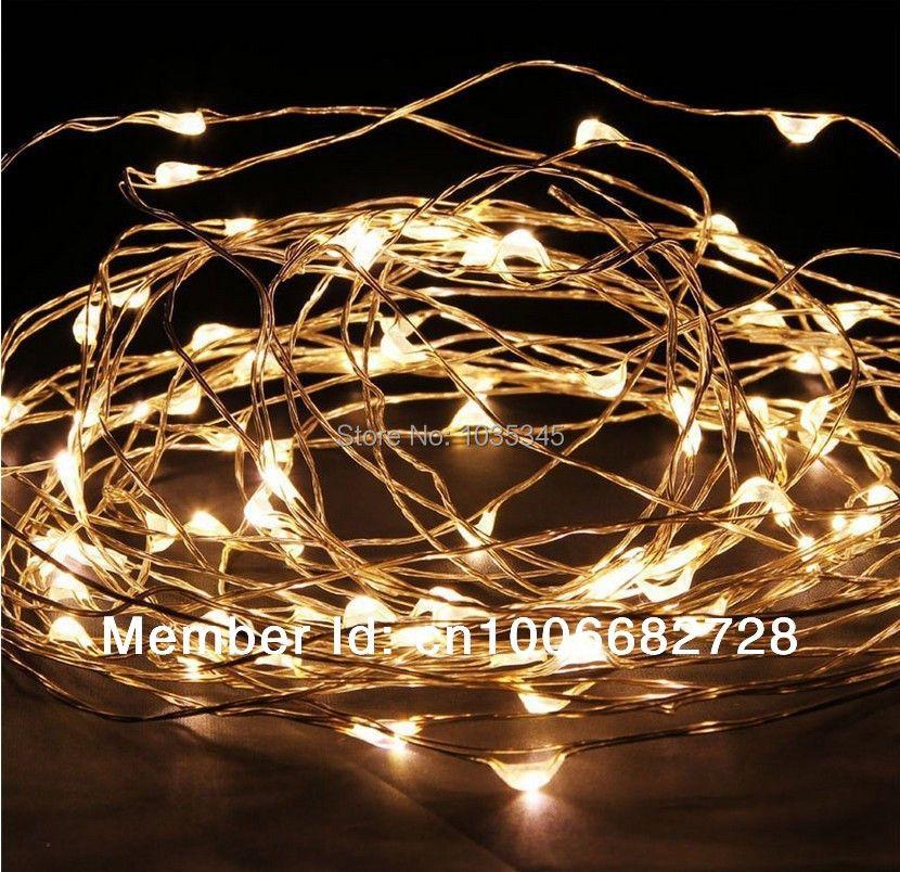 33Ft 10 M 100LED Fil De Cuivre guirlandes Guirlandes pour En Plein Air De Noël De Noce Décor 12 V DC Puissance adaptateur Inclus
