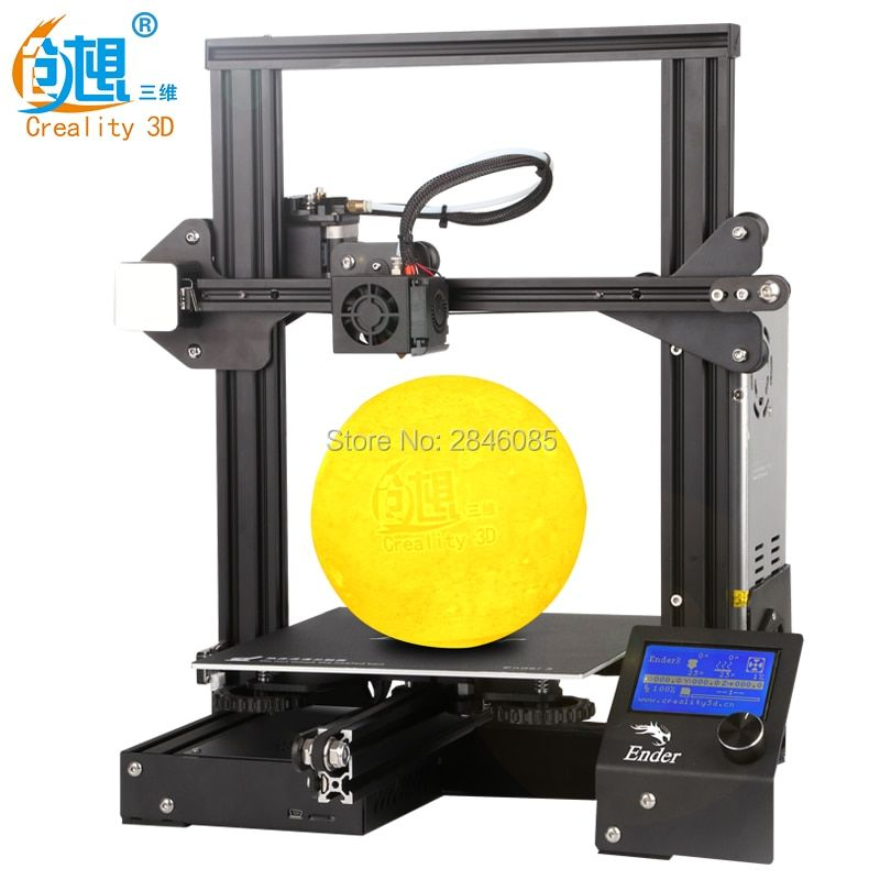 Newest Ender-3 Creality 3D Printer DIY Kit V-slot prusa I3 Upgrade Resume Power Off Max Temp 110C