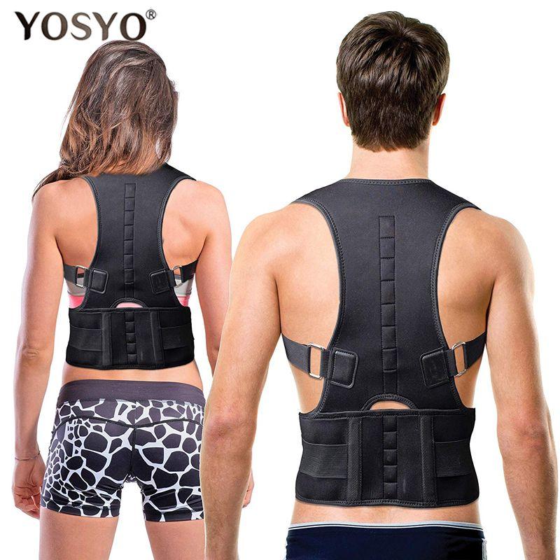 YOSYO Posture Corrector Magnetic Therapy Posture Corrector Brace Adjustable Shoulder Back Brace Support Belt NO Slouching
